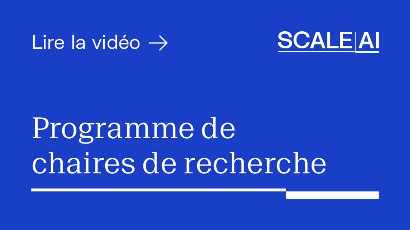 Programme de chaires de recherche en IA - Video